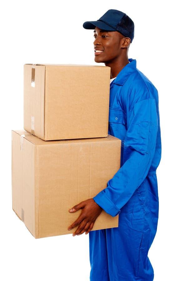Gdzie mogę target252_0_ kartonów twój pudełka Ja? obraz stock