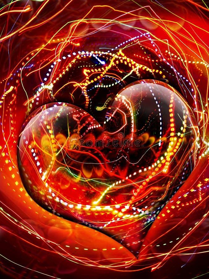 Geëlektriseerde hart stock afbeeldingen