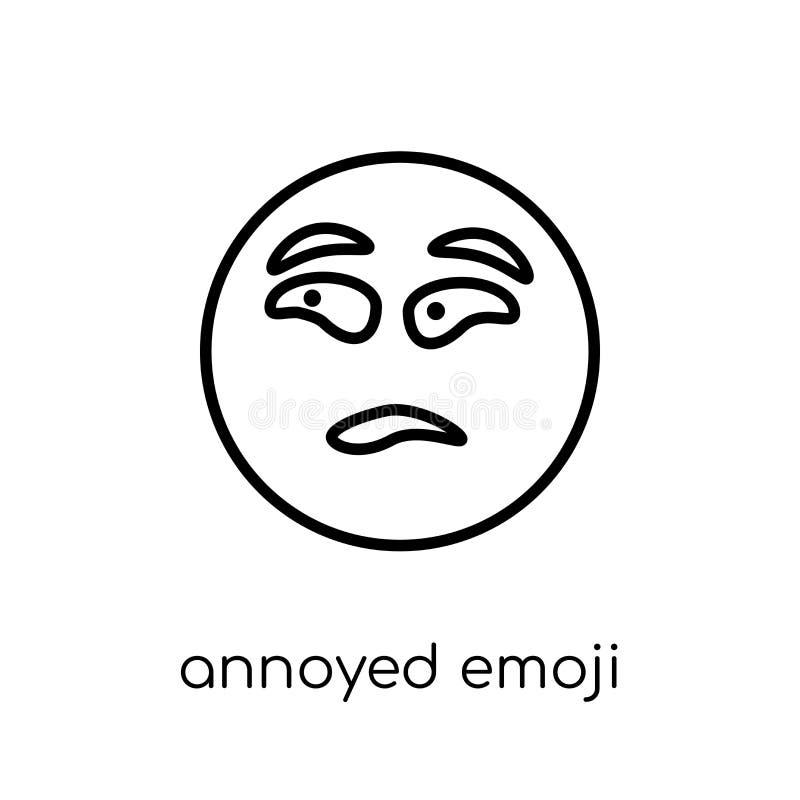 Geërgerd emojipictogram van Emoji-inzameling vector illustratie