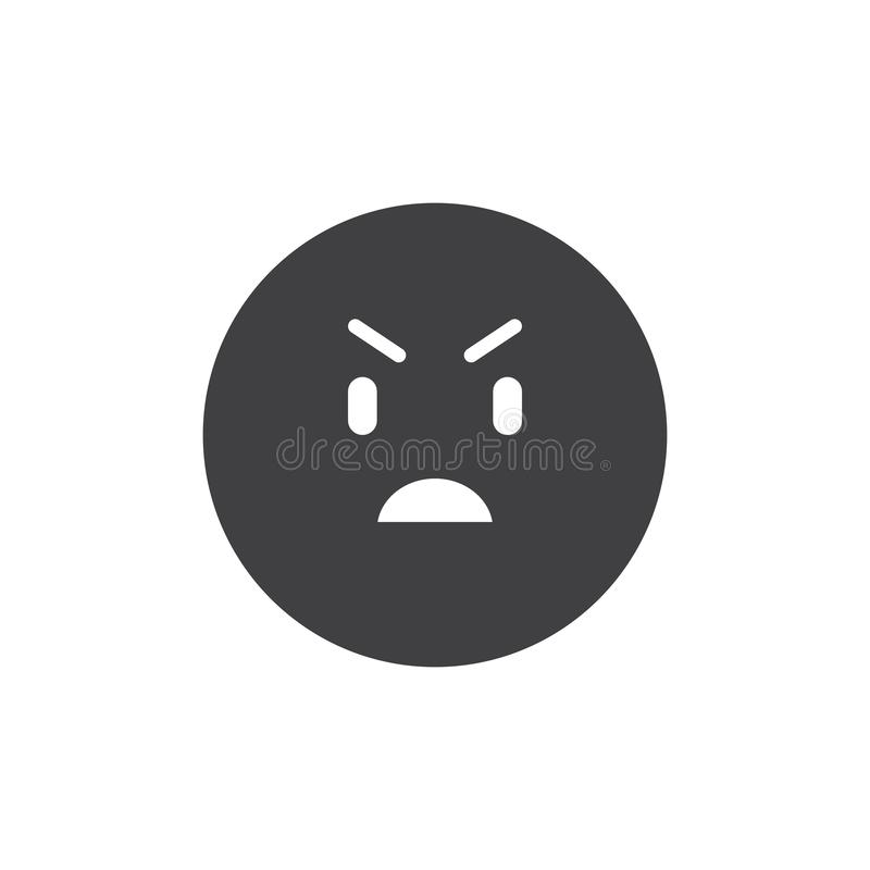 Geërgerd emoticon vectorpictogram stock illustratie