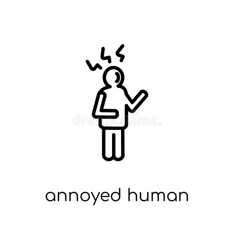 geërgerd menselijk pictogram In modern vlak lineair vector geërgerd gezoem vector illustratie