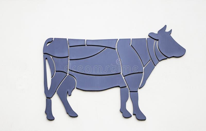 Geëxplodeerde koe stock afbeelding