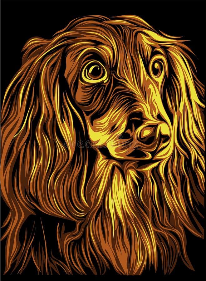 Geïllustreerd hondportret royalty-vrije stock afbeeldingen