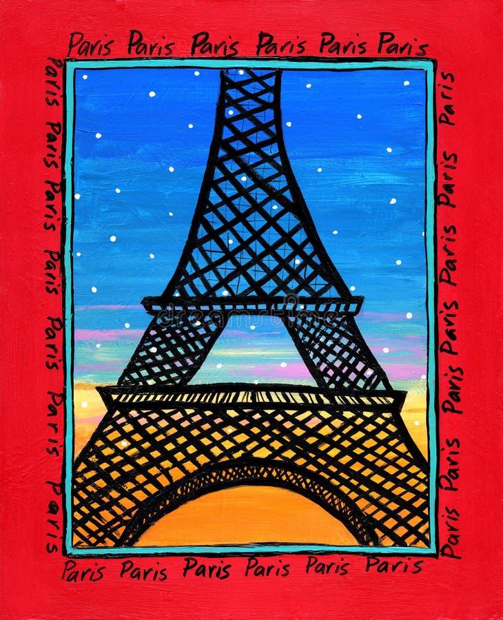 Geïllustreerda Parijs royalty-vrije stock foto