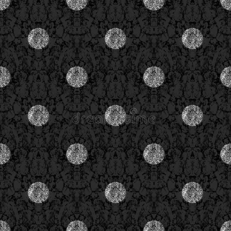 Geïllustreerde grunge achtergrond met diamanten royalty-vrije illustratie