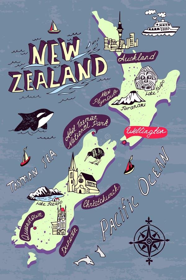 Geïllustreerde kaart