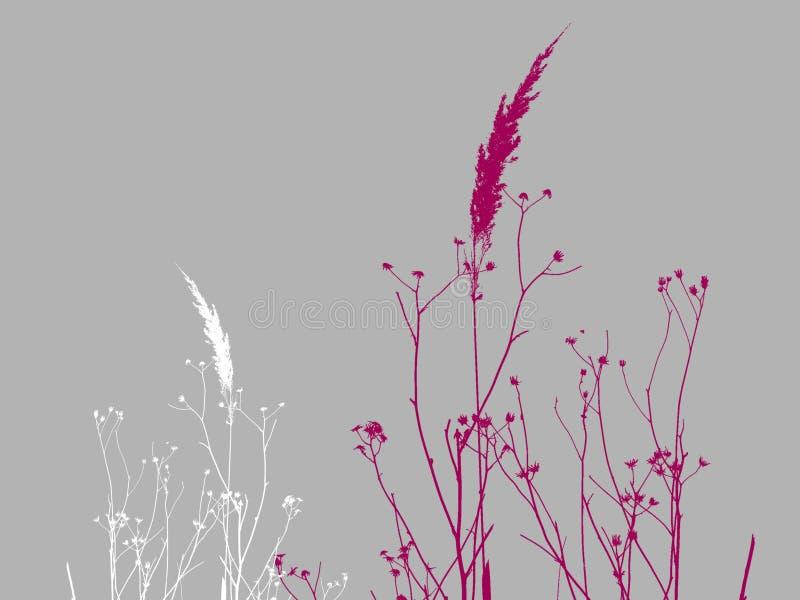 Geïllustreerdl droog gras stock illustratie
