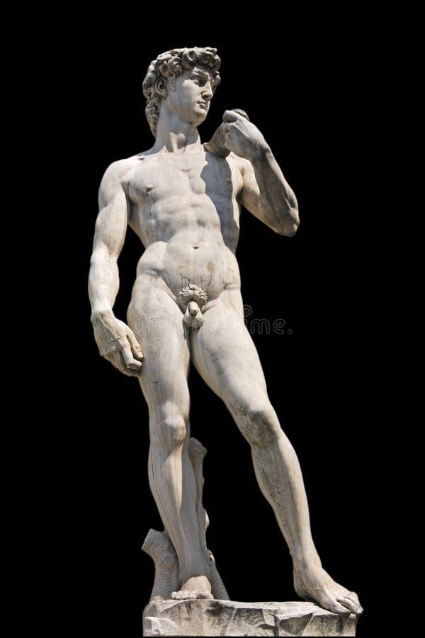 Geïsoleerd° standbeeld van David, royalty-vrije stock afbeeldingen