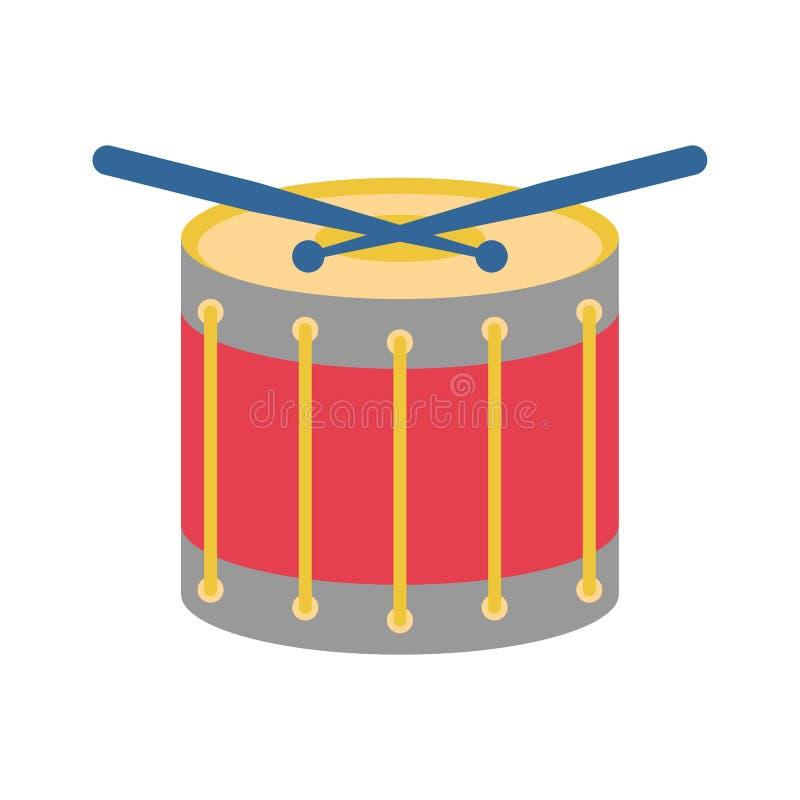 Geïsoleerd ?rumbeeldverhaal Percussie muzikaal instrument Vector illustratie royalty-vrije illustratie