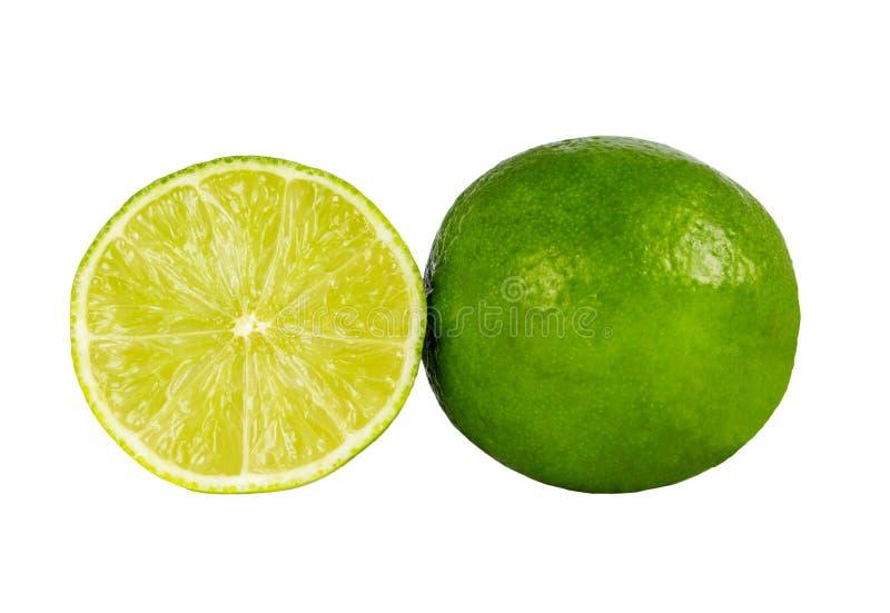 Geïsoleerd beeld van groene kalk stock afbeelding