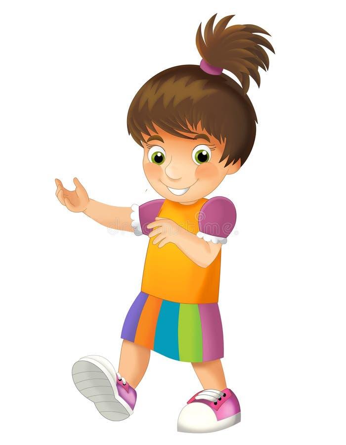 Geïsoleerd beeldverhaalkind - illustratie voor kinderen royalty-vrije illustratie