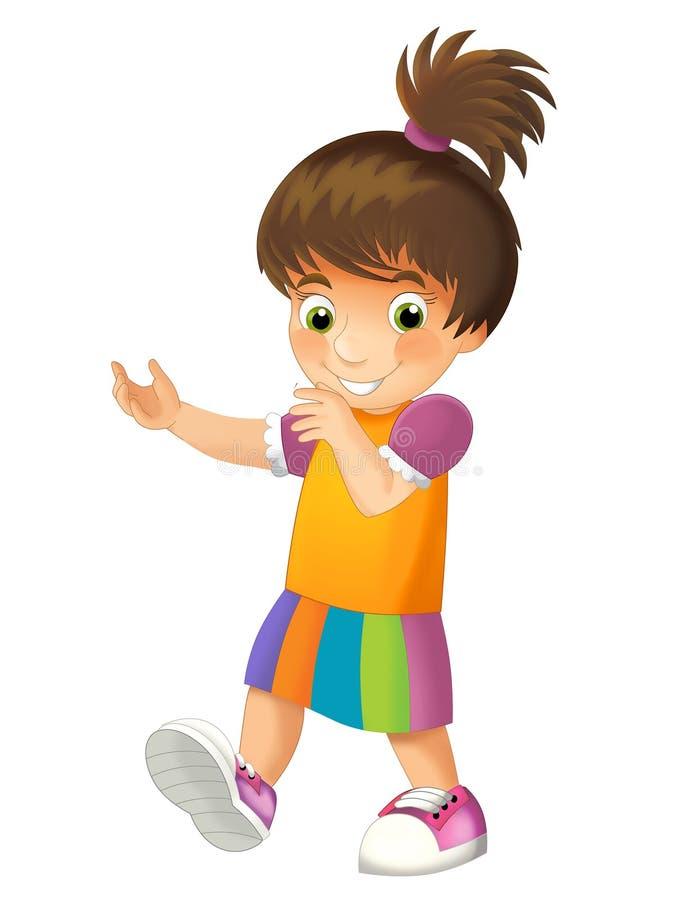 Geïsoleerd beeldverhaalkind - illustratie voor kinderen stock illustratie