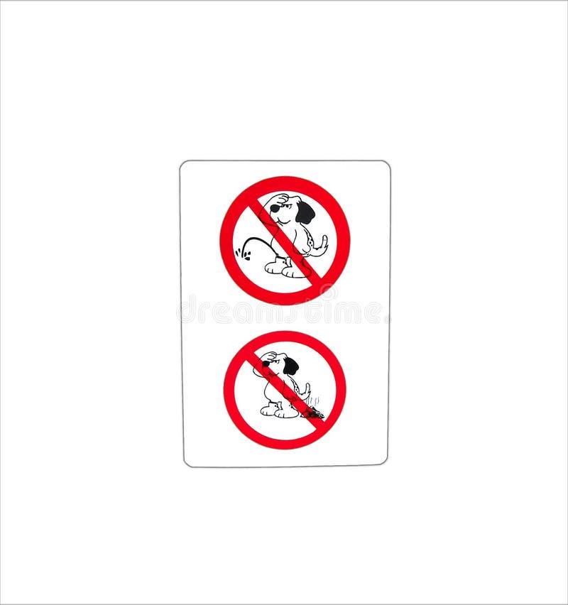 Geïsoleerd belemmer teken voor WC van het hondtoilet royalty-vrije stock foto's