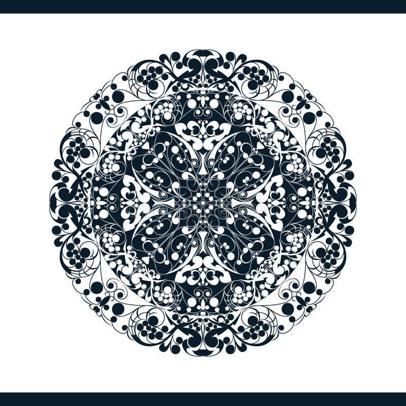 Geïsoleerd bloemenpatroon royalty-vrije illustratie
