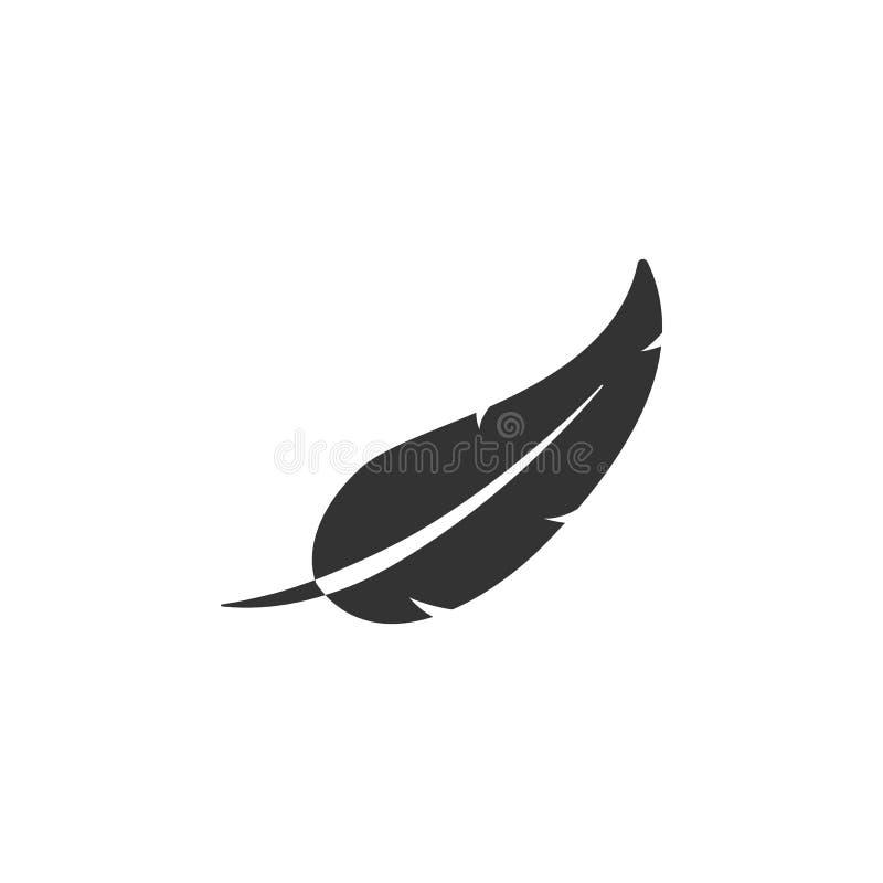 Geïsoleerd Bonenpictogram Plume Vector Element Can Be voor Bonen, Veer, Pen Design Concept wordt gebruikt dat royalty-vrije illustratie