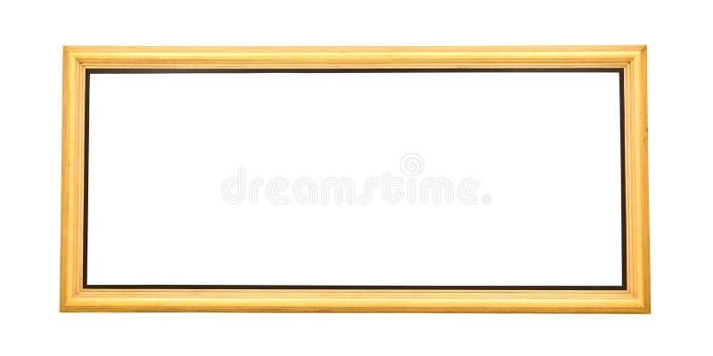 Geïsoleerd breed gouden het schilderen kader royalty-vrije stock foto's