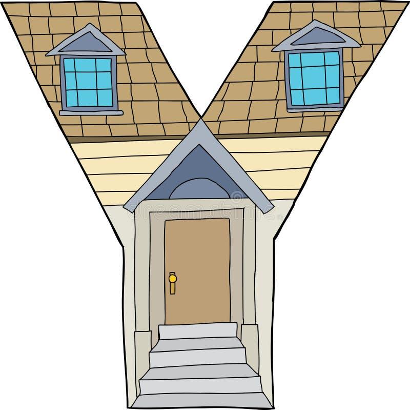 Geïsoleerd Brieveny Huis vector illustratie