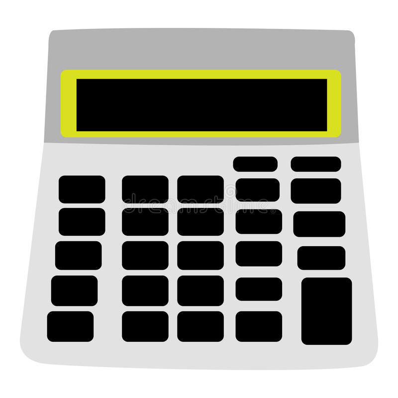 Geïsoleerd calculatorpictogram stock illustratie