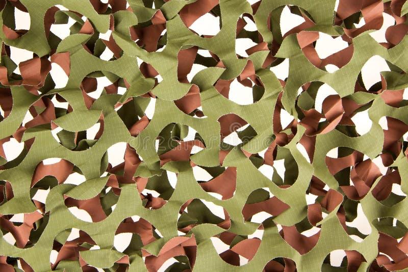 Geïsoleerd camouflage netto royalty-vrije stock afbeelding