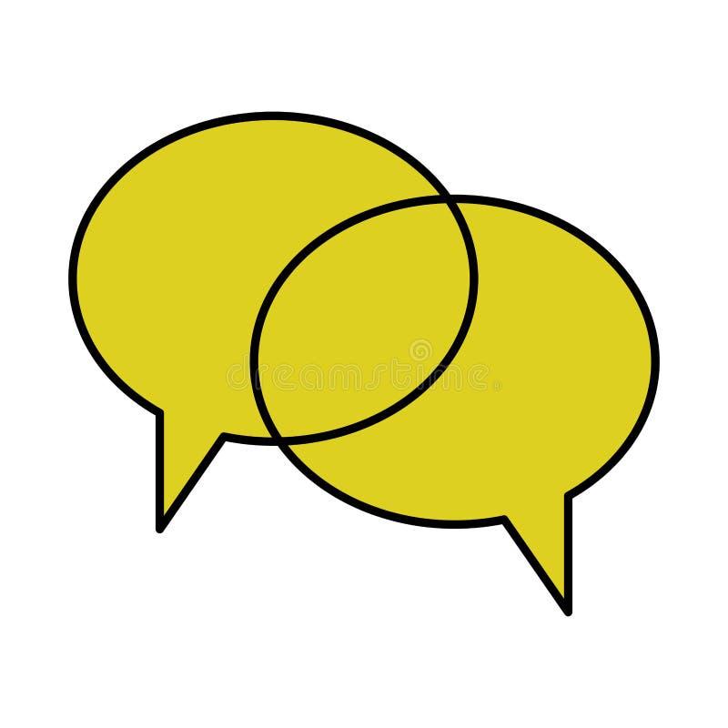 Geïsoleerd communicatie bellenontwerp royalty-vrije illustratie