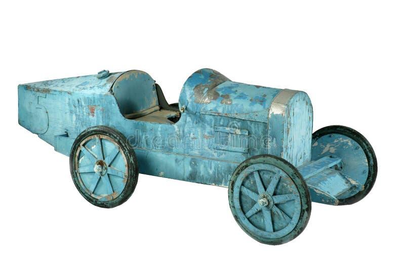 Geïsoleerd de autoblauw van het Childs oud pedaal royalty-vrije stock foto's