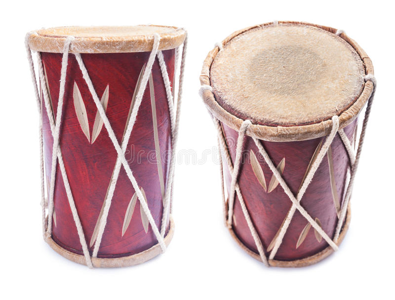 Geïsoleerd de trommelinstrument van de Congapercussie stock foto