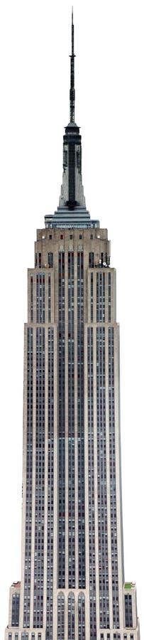 Geïsoleerd Empire State Building, New York royalty-vrije stock foto
