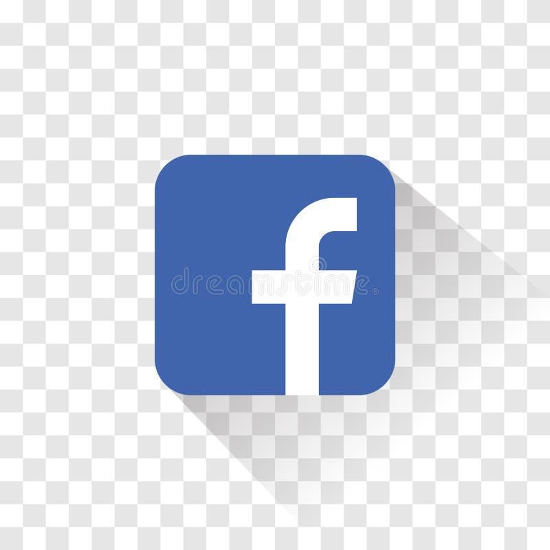 Ge?soleerd Facebook-embleem Vector illustratie Facebook-pictogram stock illustratie