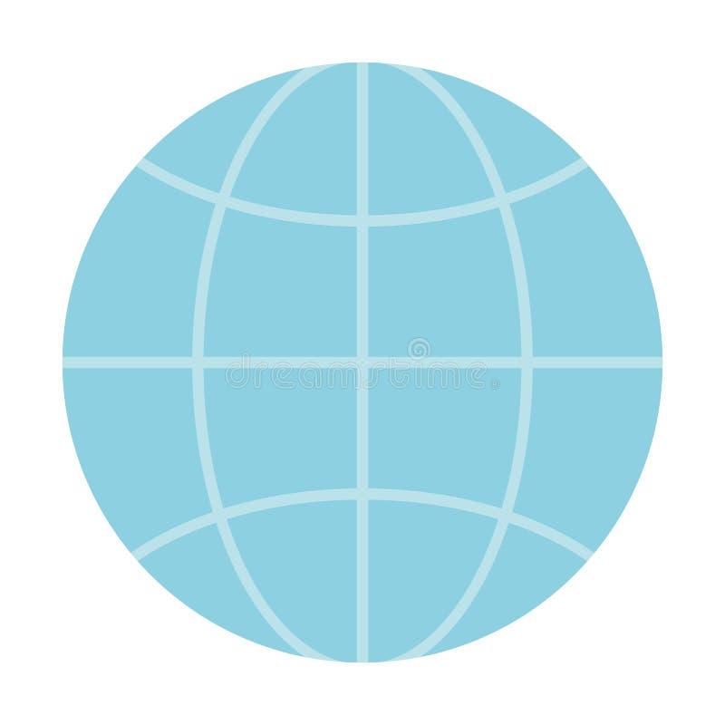 Geïsoleerd gebied van globale mededeling royalty-vrije illustratie