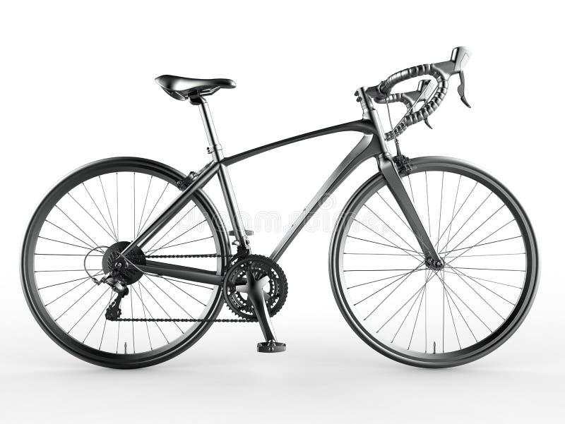 Geïsoleerd gedetailleerd fiets 3D model stock illustratie
