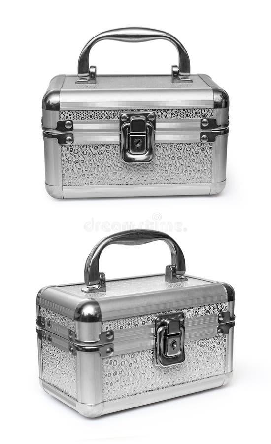 Geïsoleerd geval met schoonheidsmiddelen royalty-vrije stock afbeeldingen