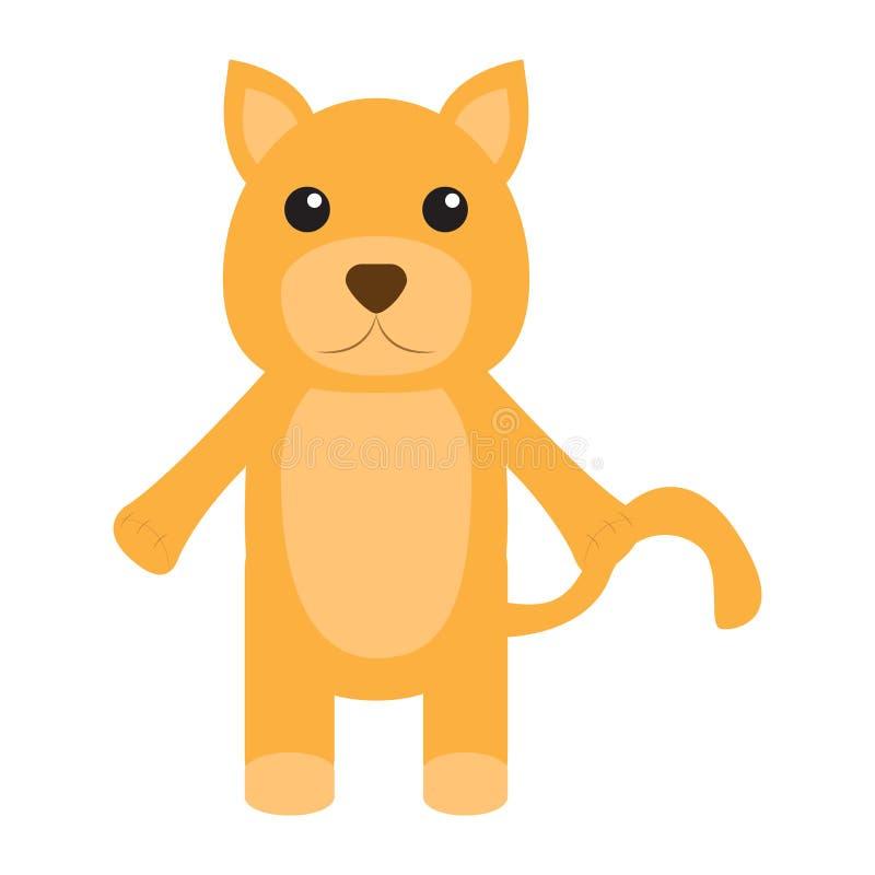 Geïsoleerd gevuld kattenstuk speelgoed royalty-vrije illustratie