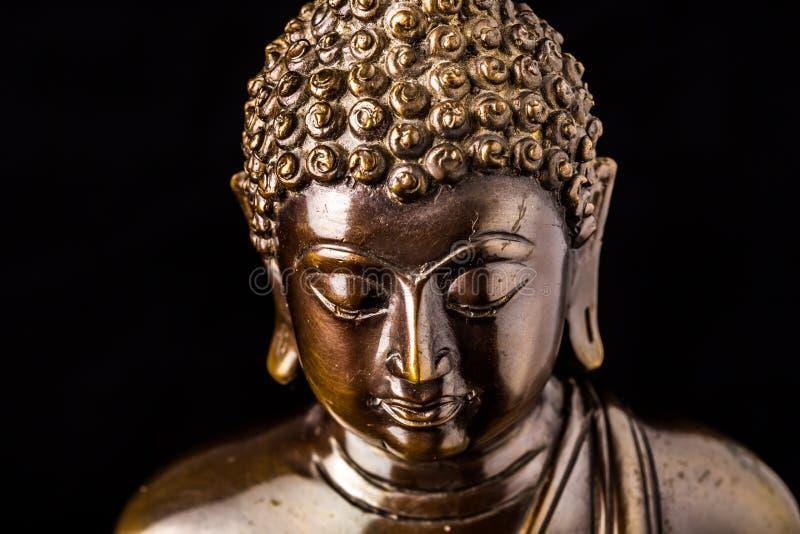 Geïsoleerd gezicht van het standbeeld van Boedha royalty-vrije stock foto