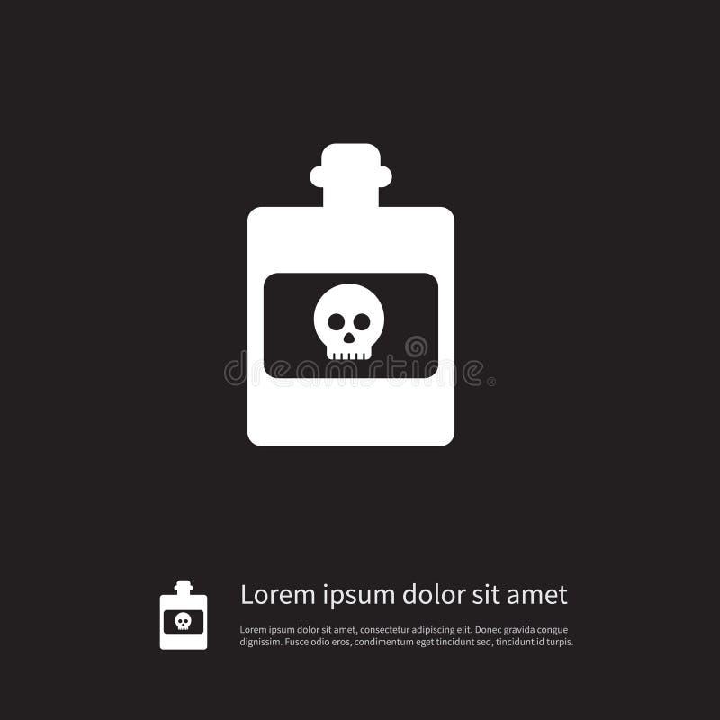 Geïsoleerd Giftig Pictogram Het gevaarlijke Vectorelement kan voor het Gevaarlijke, Giftige, Concept van het Vergiftontwerp worde royalty-vrije illustratie