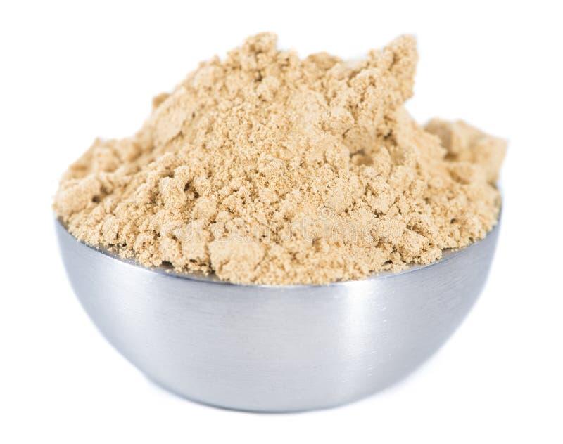 Geïsoleerd Ginger Powder royalty-vrije stock afbeelding