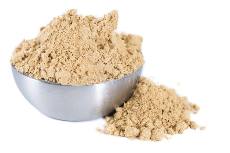 Geïsoleerd Ginger Powder stock afbeelding