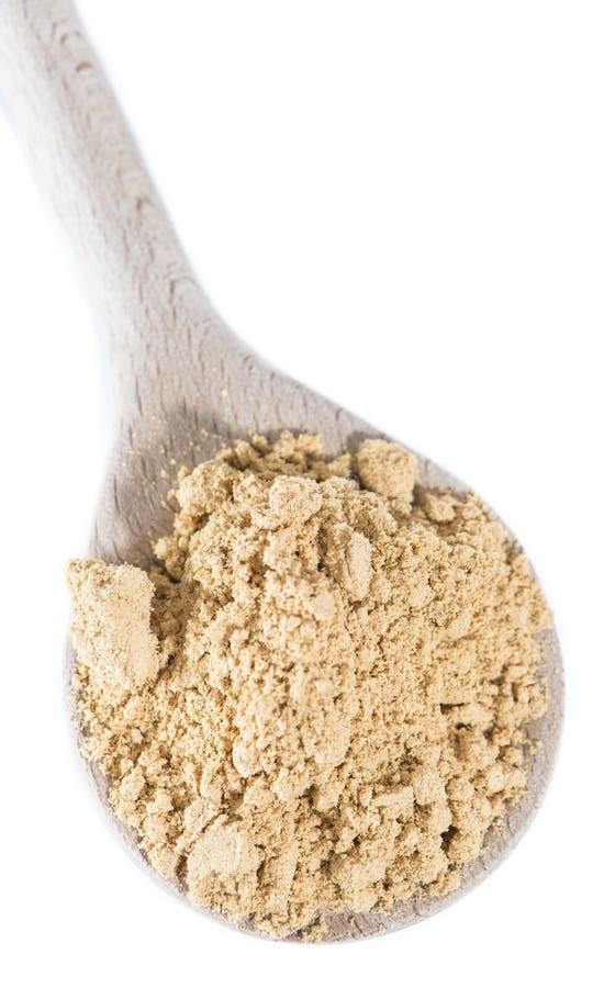 Geïsoleerd Ginger Powder stock fotografie