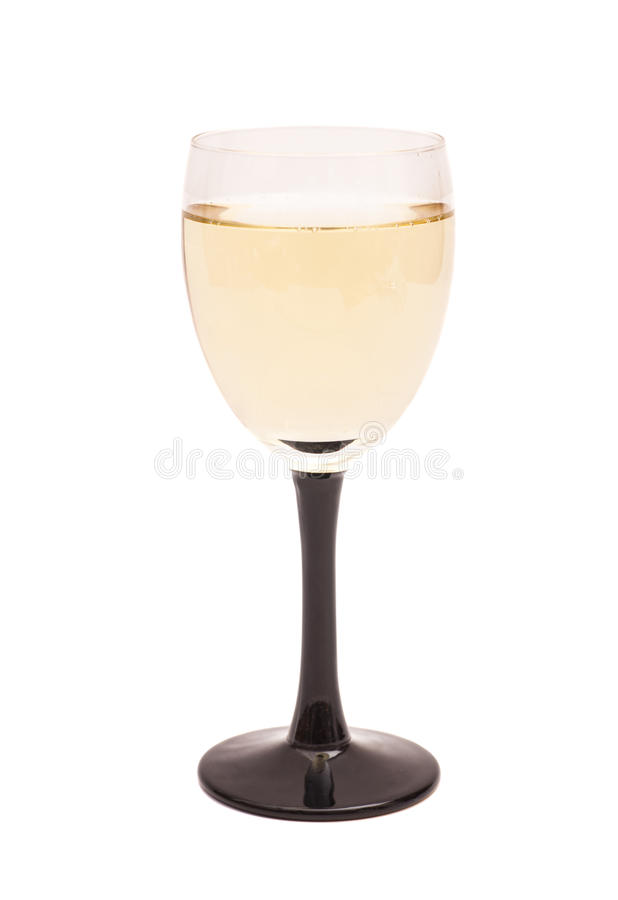 Geïsoleerd glas champagne, royalty-vrije stock foto's