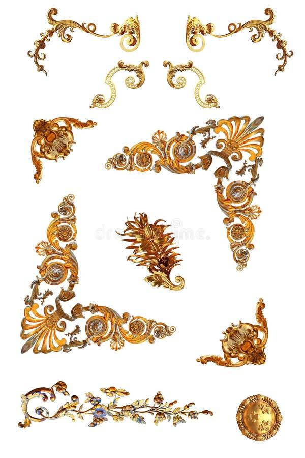 Geïsoleerd gouden detail royalty-vrije stock foto