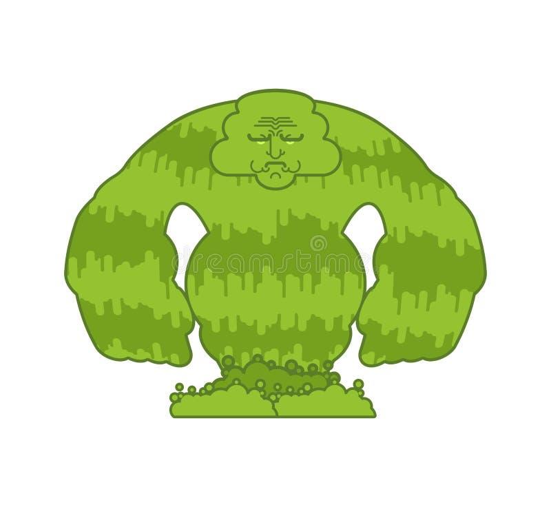 Geïsoleerd groen van het snotmonster Kleverig glad monstruositeitkarakter royalty-vrije illustratie
