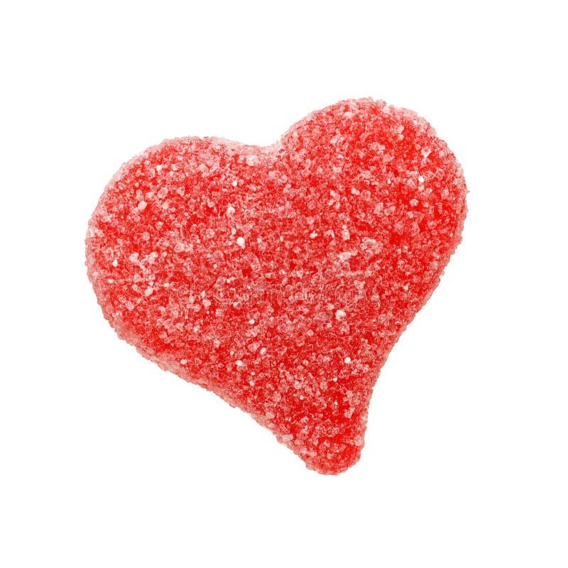 Geïsoleerd hart gevormd suikergoed stock fotografie