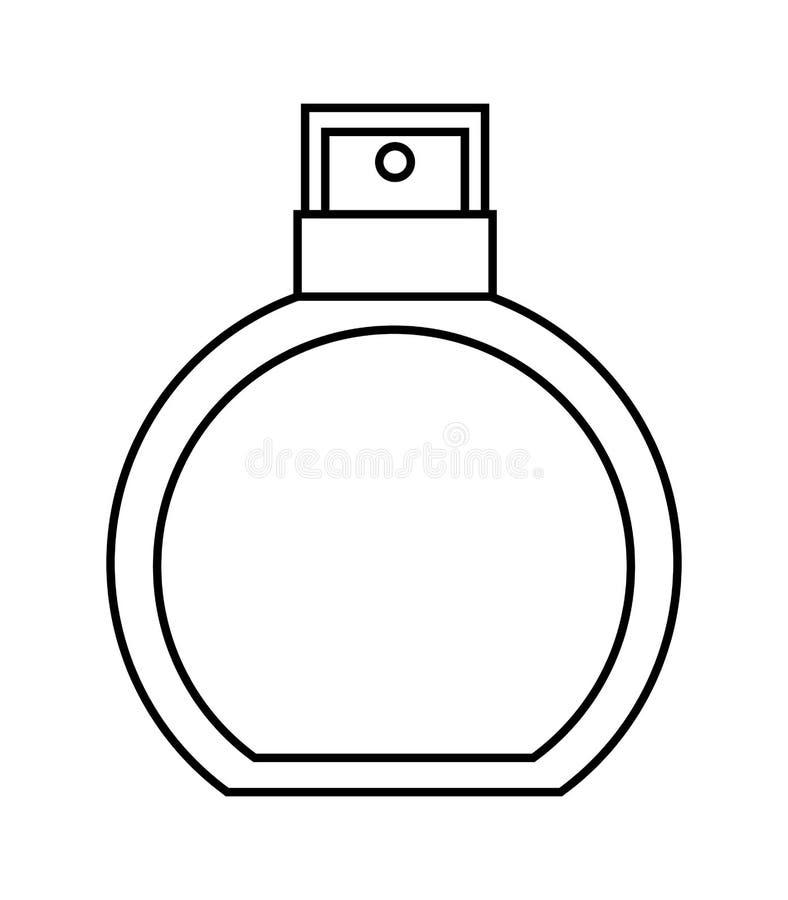 geïsoleerd het pictogramontwerp van de lotionmake-up product royalty-vrije illustratie