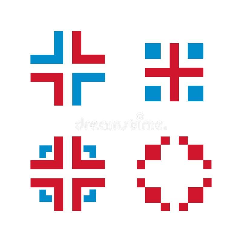 Geïsoleerd het Symboolteken van de kruisings Medisch Gezondheidszorg royalty-vrije illustratie