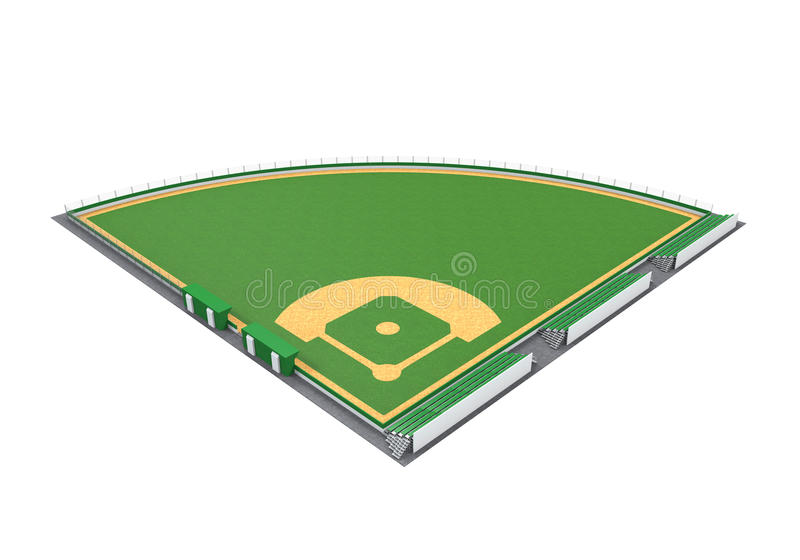 Geïsoleerd honkbalveld vector illustratie