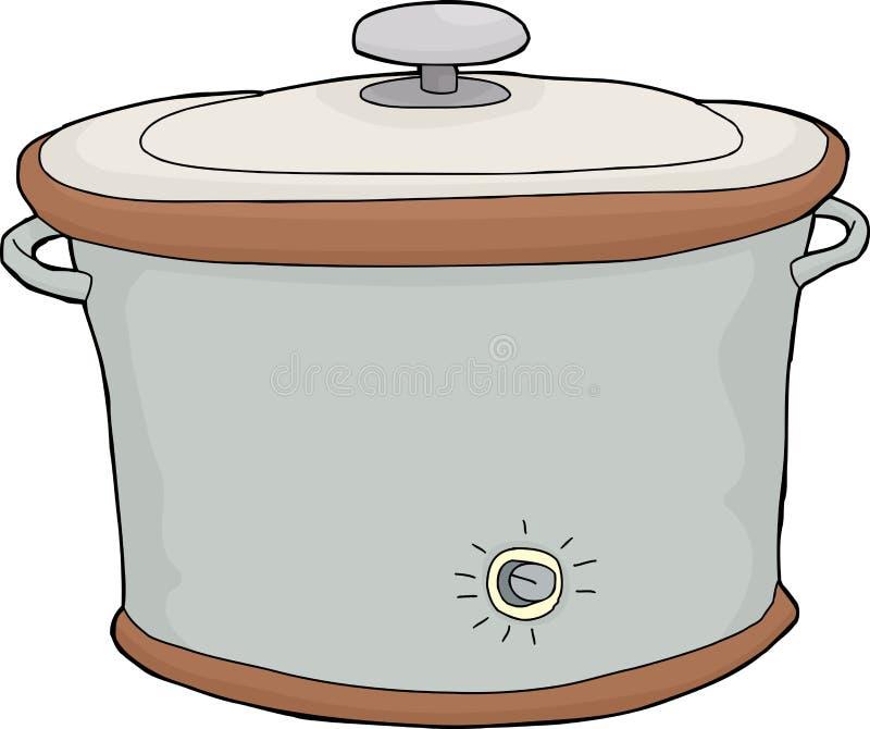 Geïsoleerd Langzaam Kooktoestel royalty-vrije illustratie