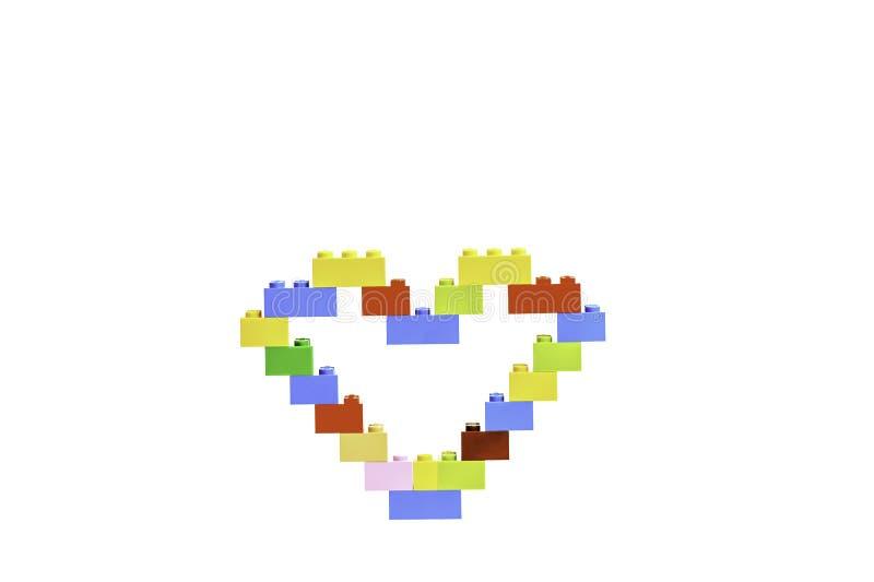 Geïsoleerd Lego-hart royalty-vrije stock foto's