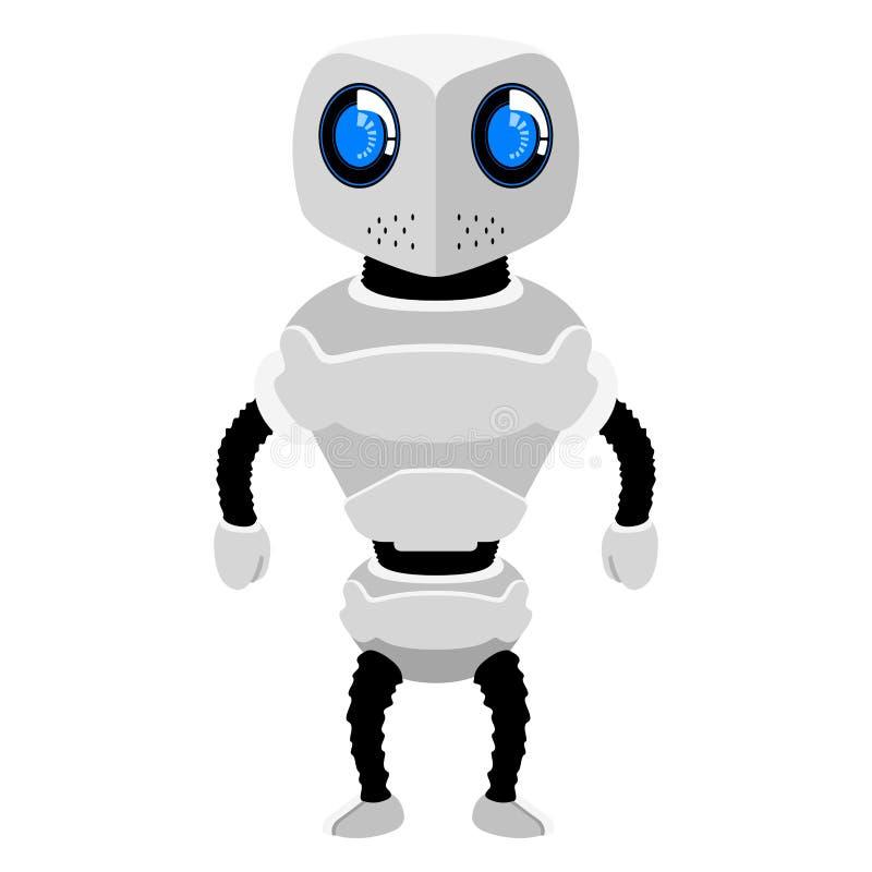 Geïsoleerd leuk androïde pictogram royalty-vrije illustratie
