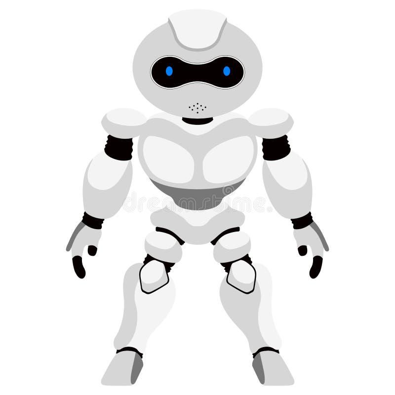 Geïsoleerd leuk androïde pictogram vector illustratie