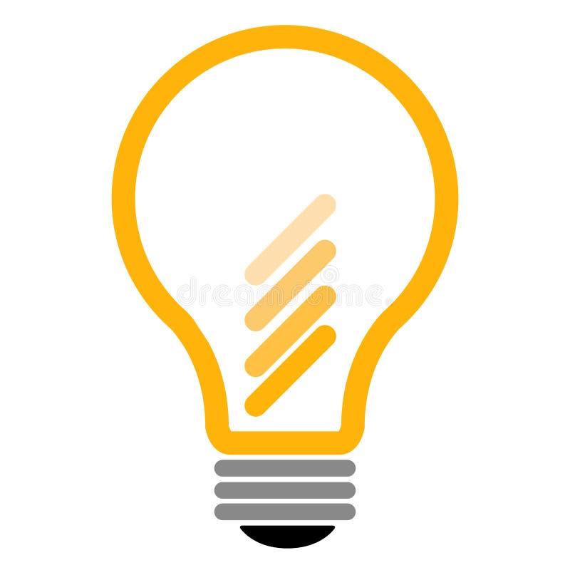 Geïsoleerd lightbulb pictogram vector illustratie