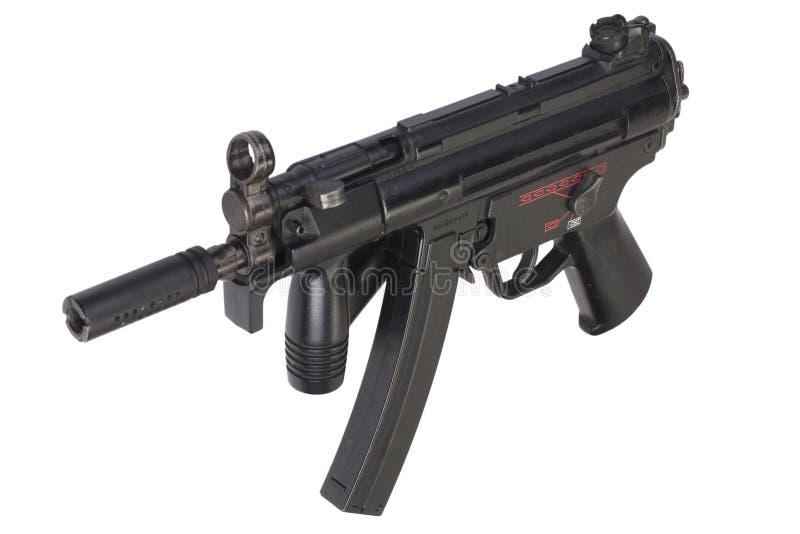 Geïsoleerd machinepistool MP5 stock foto's